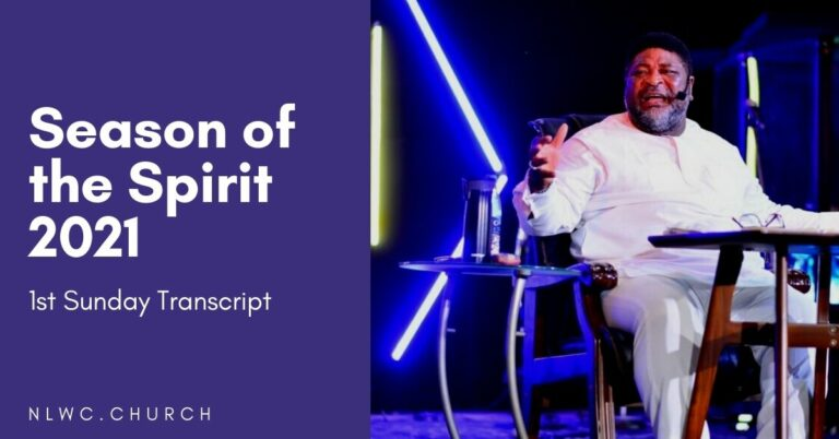 Season of the Spirit First Sunday (Transcript)